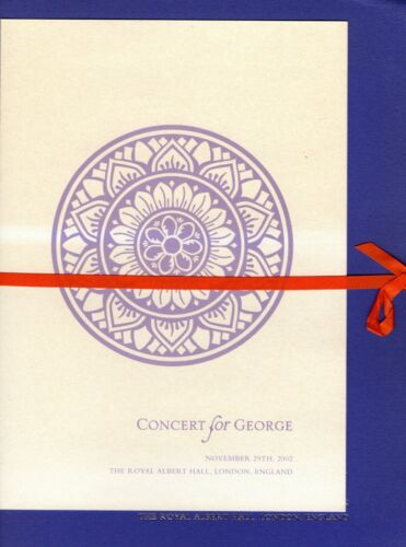"BEATLES ""CONCERT FOR GEORGE"" 2002 ORIGINAL PROGRAM SOUVENIR BOOK-GEORGE HARRISON"