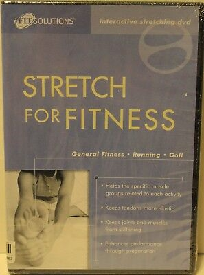 NEW Stretch for Fitness interactive stretching DVD for fitness running & golf