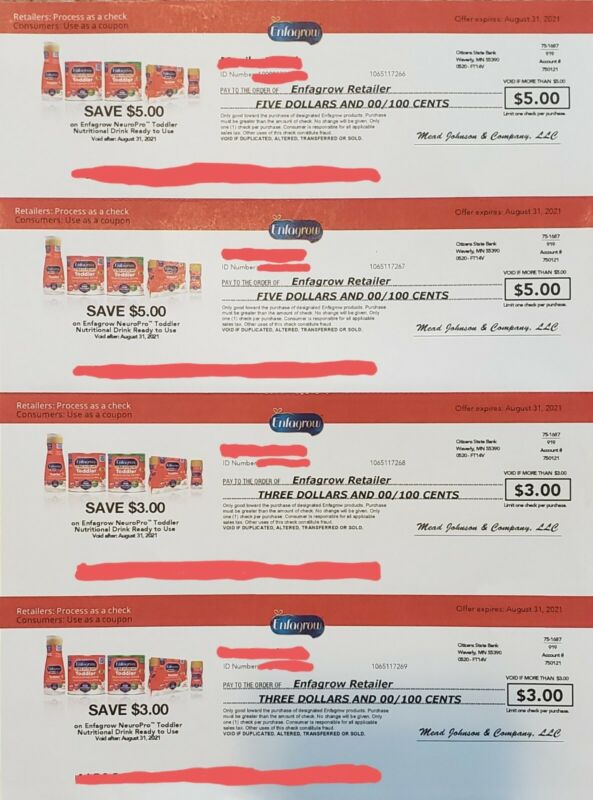 Enfagrow NeuroPro Toddler Nutritional Drink Coupons Expire 8/31/21