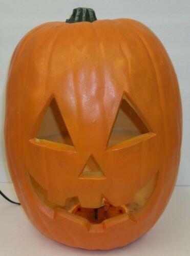 "Large 15"" Light Up Foam Blow Mold Halloween Jack-o-Lantern Pumpkin Decoration"