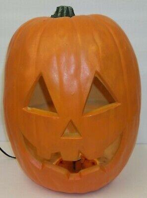 "Large 17"" Light Up Foam Blow Mold Halloween Jack-o-Lantern Pumpkin Decoration"
