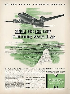 1951 Monsanto Skydrol Ad Aircraft Hydraulic Fluid Philippine Air Lines Pal