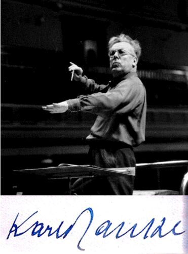 COMPOSER Conductor KARL RANKL Hand SIGNED AUTOGRAPH + ACTION PHOTO + MAT