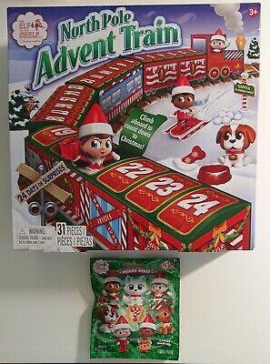 Elf On The Shelf North Pole Advent Train Calendar w-BONUS Merry Mini Blind Bag