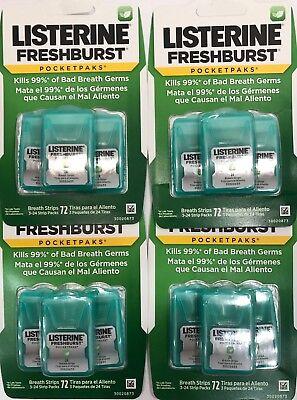- Listerine Pocket Paks 4 x Fresh Burst 3 packs - 288 Oral Care Breath Strips