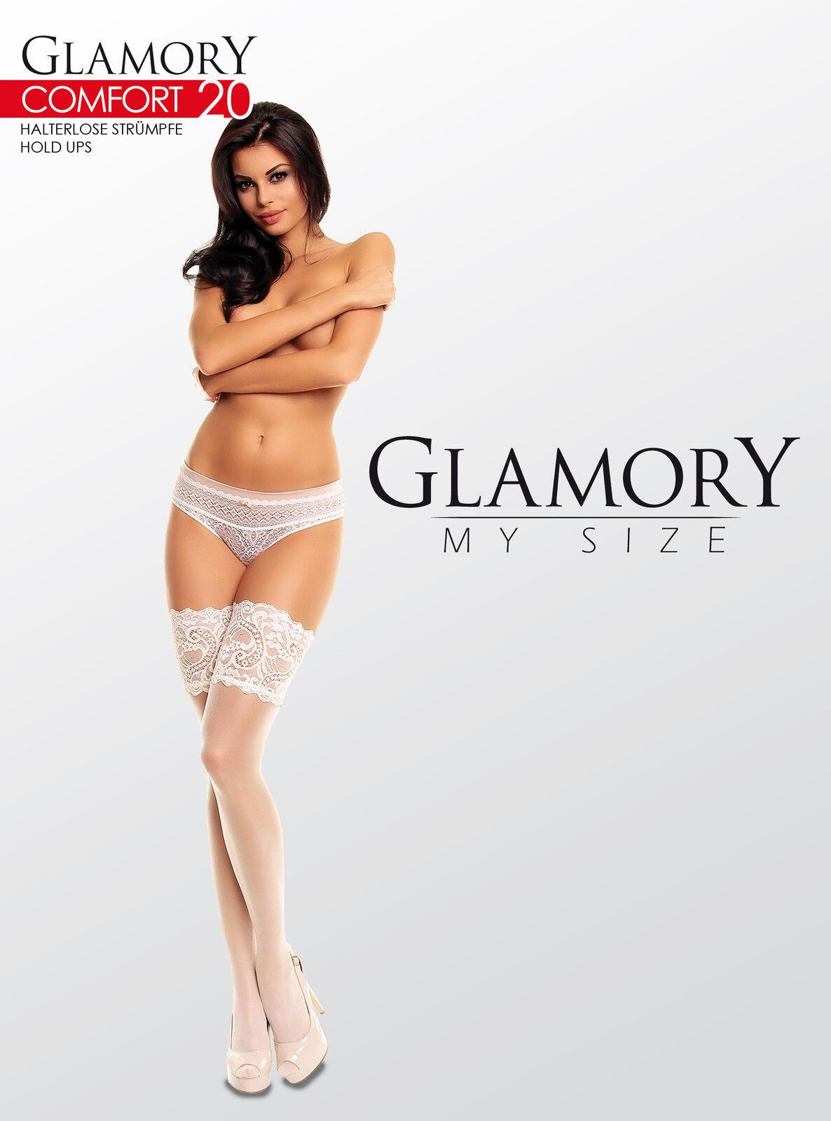 Glamory - Luxuriöse Halterlose Strümpfe Comfort 20, Fb/Gr.-Auswahl bis 62, 50115