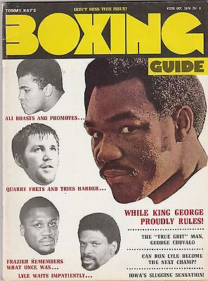 - BOXING GUIDE MAG MUHAMMAD ALI-GEORGE FOREMAN-JOE FRAZIER-RON LYLE OCTOBER 1974