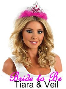 Hen Party Sash/Tiara/L-Plate/Boppers/Garter Bride/Bridesmaid Fun Accessories