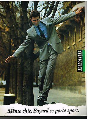 Publicité Advertising 1988 Les Costumes pour Hommes Bayard (Les Costumes Hommes)