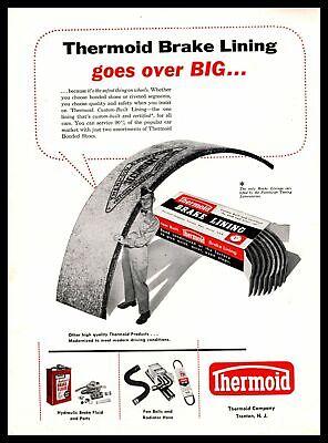1958 Thermoid Company Custom-Built Brake Lining Trenton New Jersey Print Ad - $9.95
