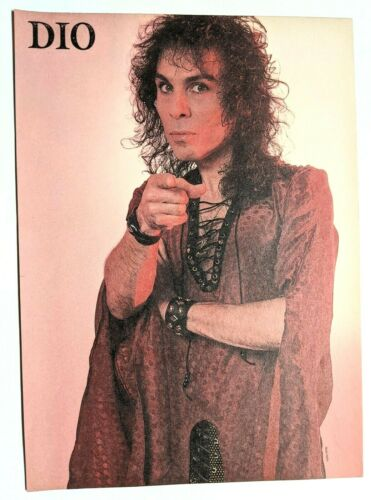 RONNIE JAMES DIO / MAGAZINE FULL PAGE PINUP POSTER CLIPPING (8)