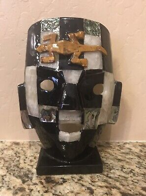 Mayan Tribal Burial Mask Abalone Shell~Onyx~Jaspers~Semi-precious Stones ~Inlaid for sale  Surprise