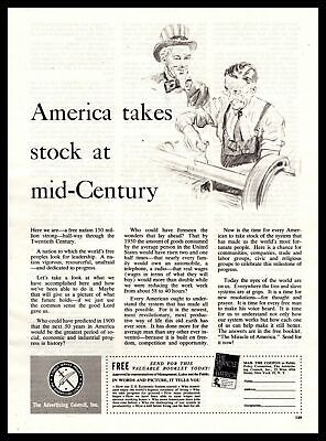 """1950 Advertising Council """"The Miracle Of America"""" Booklet Offer Vintage Print Ad"""