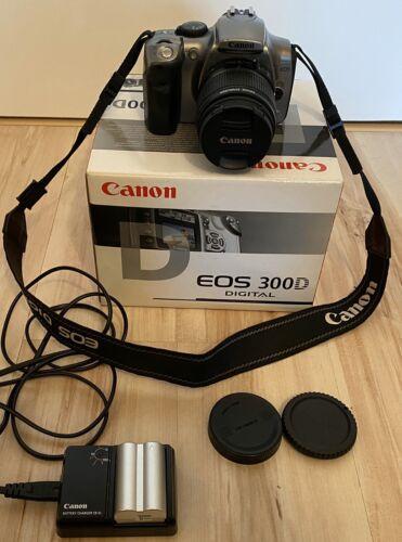 CANON EOS 300D digitale Spiegelreflexkamera für Wechselobjektive + Zubehörpaket