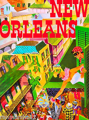 New Orleans Louisiana Mardi Gras Mask United States Travel Advertisement Poster - New Orleans Masks