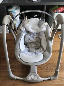 Portable Baby Swing (Neutral Colours)