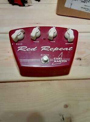 CARL MARTIN RED REPEAT DELAY ECHO EFFECT PEDAL