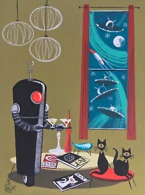 EL GATO GOMEZ RETRO OUTER SPACE MID CENTURY MODERN ROBOT TOY CAT SCI-FI 1950'S