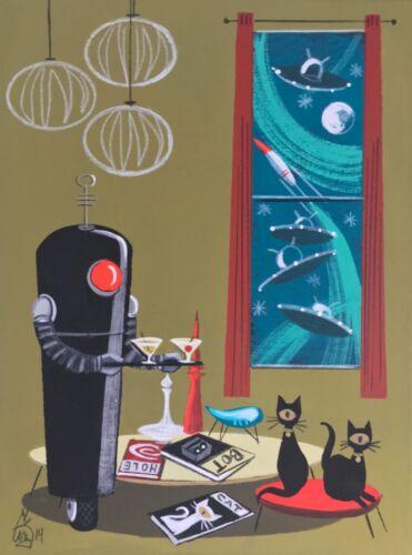 EL GATO GOMEZ RETRO OUTER SPACE MID CENTURY MODERN ROBOT TOY CAT SCI-FI 1950