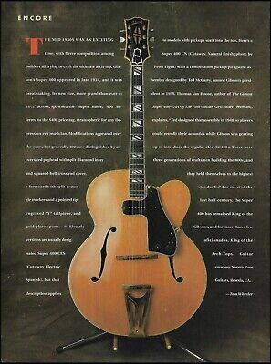 The 1934 Gibson Super 400 CN vintage guitar 1991 history article / pinup photo