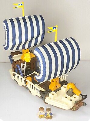 Fisher Price TRIO King's Warship Mini Figures Bricks Sticks Panels Building Set