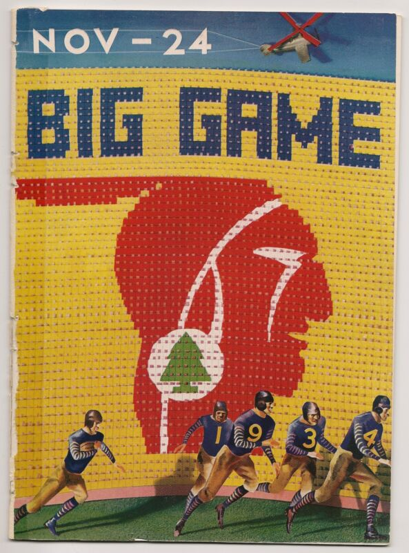 1934 California-Stanford Big Game Program Stanford Prevails CLASSIC!!