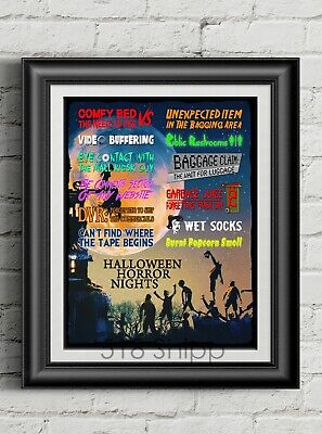 Halloween Horror Nights Art Print Movie Poster Universal Orlando Funny Humor - Halloween Humour