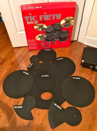 """VIC FIRTH DRUM SET MUTES-COMPLETE FUSION KIT 22""""-IN BOX-NEVER USED-8 PADS-USA MA"""