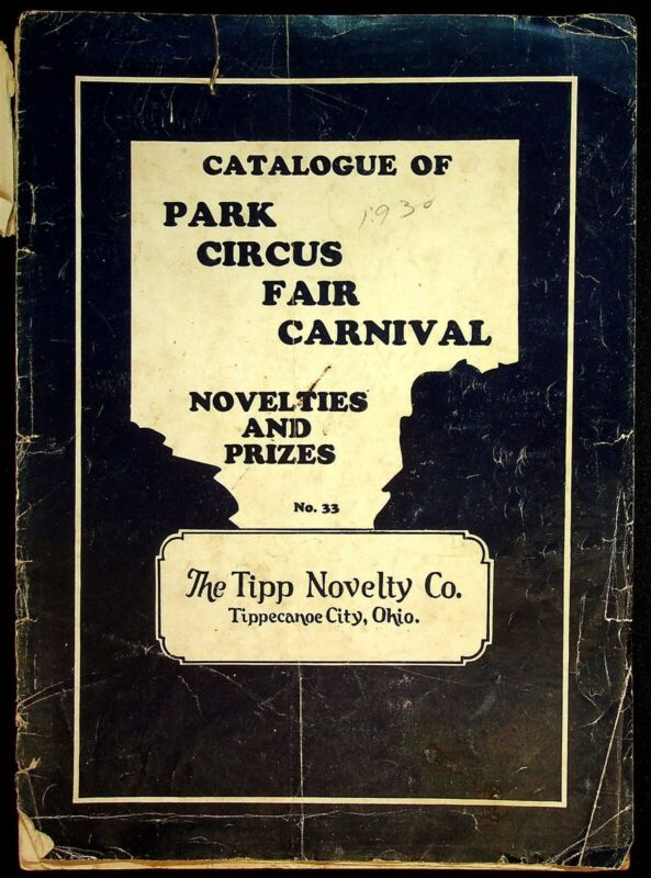 1930 Tipp Novelty Company Circus Fair Novelties & Prizes Catalog Tipp City OH