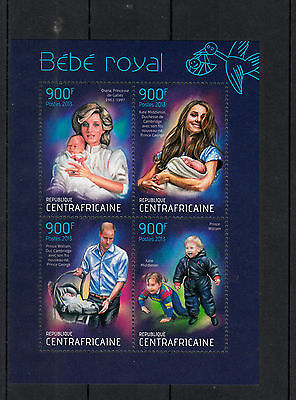 Central African Republic 2013 MNH Birth Prince George Royal Baby 4v M/S William