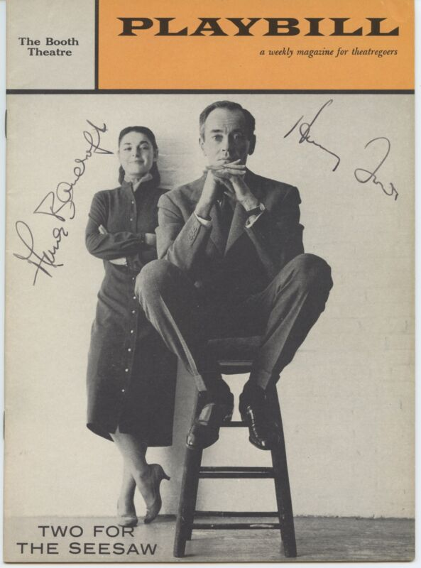 """Henry FONDA & Anne BANCROFT (Theater): """"Two for the Seesaw"""" - Signed Program"""