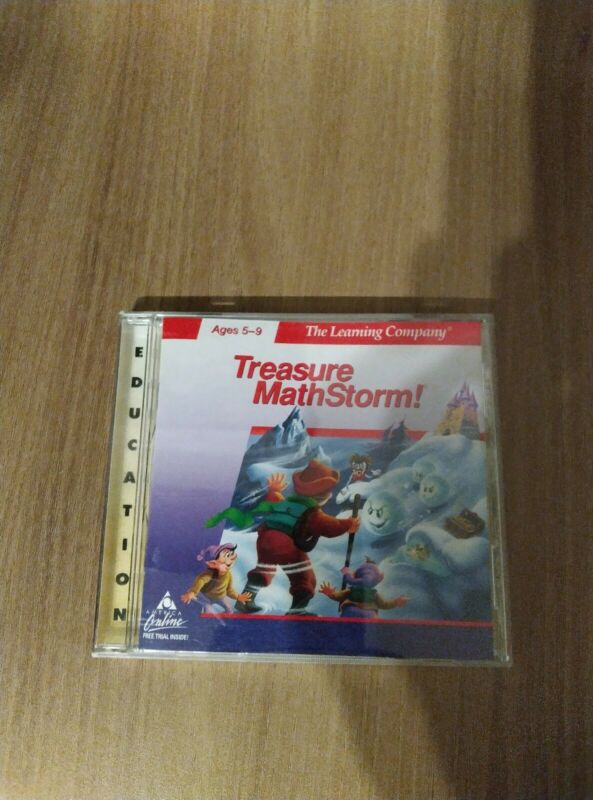 PC Education Software The Learning Company Treasure Math Storm!