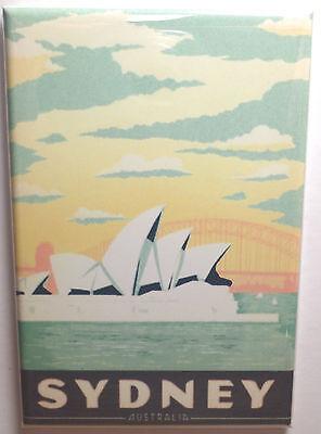 Sydney Australia Magnet 2  X 3  Refrigerator Locker Travel Poster
