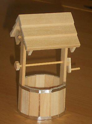 Brunnen mit Dach & Kurbel,(#14),Miniatur f.d. Puppenstube,1:12
