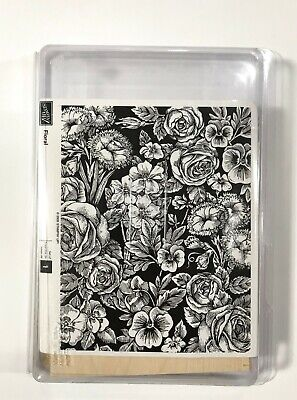 """STAMPIN UP 2005 Floral Set of 1 Stamp 5"""" x 6"""" Large Stamp Flowers New"""