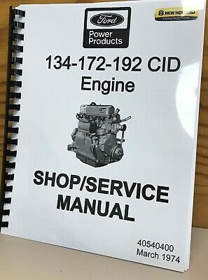 Ford 134-172-192 Cid Engines Service Manual