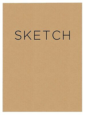 Open Bound Sketchbook Medium 100 GSM Wood-Free Acid-Free Paper 240pages