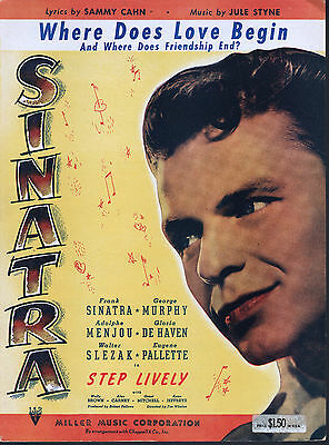 Where Does Love Begin 1944 Step Lively Frank Sinatra Sheet Music