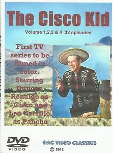 The Cisco Kid 32 Episode Set 1950s Classic TV Western