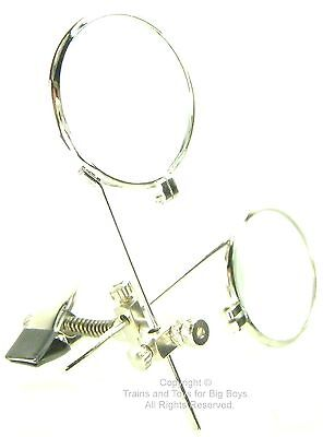 JEWELER'S EYE LOUPE Clip on Eye Glasses Jewelry Making Repair Magnifier Craft I