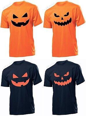 Halloween Kürbis T-Shirt Kostüm Lustig T-Shirt Schädel Herren Damen (Kind Schädel Herr Kostüme)