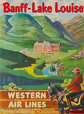 Banff Lake Louise Canada Vintage United States Travel Advertisement Art Poster