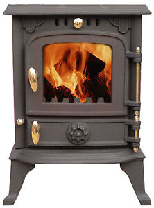 Wood Burning Log Multifuel Cast Iron Stove 12 months warranty Choice of Model