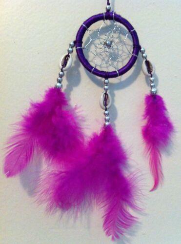 Small Cherokee Dream Catcher, Seashells, Pink & Purple