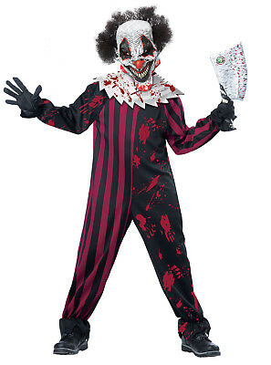 Pennywise Scary Killer Clown IT Boys Child Costume (Clown Costumes For Boys)