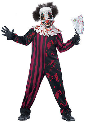 Pennywise Scary Killer Clown IT Boys Child - Childrens Scary Costumes