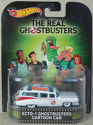 Hot Wheels Premium - Real Ghostbusters CARTOON ECTO-1 '59 Cadillac - Real Riders