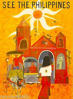 See the Philippines Islands Vintage Travel Advertisement Art Poster