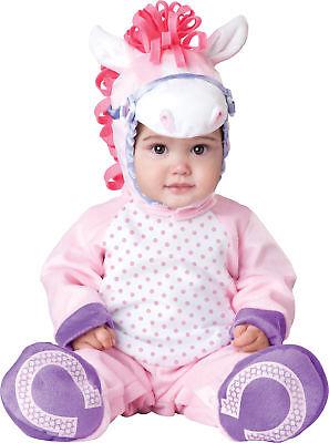 Hübsche Lil Pony Kleinkinder Kostüm mit Kapuze Reißverschluss Overall