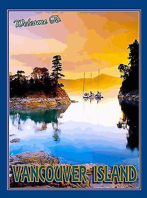 Canada Vancouver Island British Columbia Canadian Travel Advertisement Poster 2